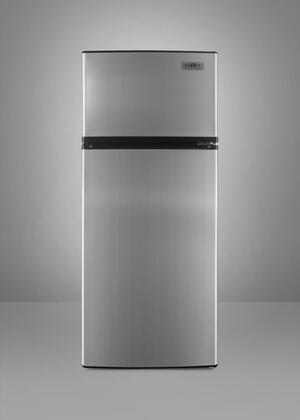 Summit FF1152SS Freestanding Counter Depth Top Freezer Refrigerator with 10.3 cu. ft. Total Capacity 2 Wire Shelves