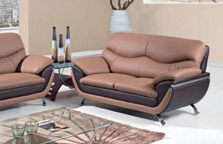 Global Furniture USA U2106L Bonded Leather Stationary with Wood Frame Loveseat