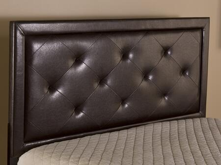 Hillsdale Furniture 1292 Becker Panel Pillowed Headboard with Rails, Wood Construction and Faux Leather Upholstery in Brown Color