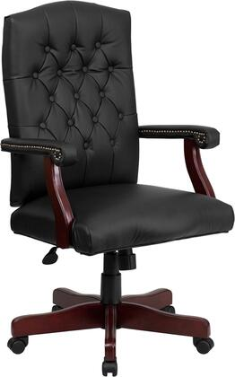 """Flash Furniture Martha Washington Series 801L-LF0005-BX-LEA-GG 33"""" Leather Executive Chair with Swivel with, High Density Padded Seat, Back and Arm Cushions and High Back Design with Tufted Back"""