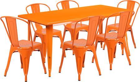 Flash Furniture ETCT005630ORGG Rectangular Shape Patio Sets
