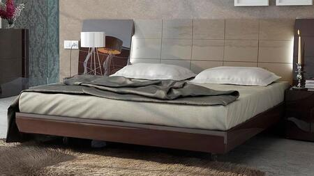 ESF Barcelona Collection i11KQBED Bed in Dark Brown