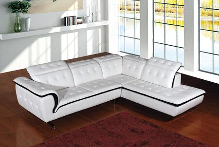 VIG Furniture VGEV968B Divani Casa Series Sofa and Chaise Leather Sofa
