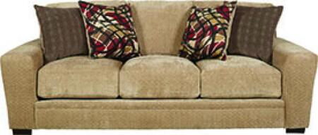 "Jackson Furniture Prescott Collection 4487-03- 94"" Sofa with Mailbox Arm Treatment, Reversible Box Seat Cushions and Padded Chenille Fabric Upholstery in"