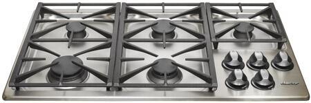 Dacor RGC365SLPH Renaissance Series Liquid Propane Sealed Burner Style Cooktop, in Stainless Steel