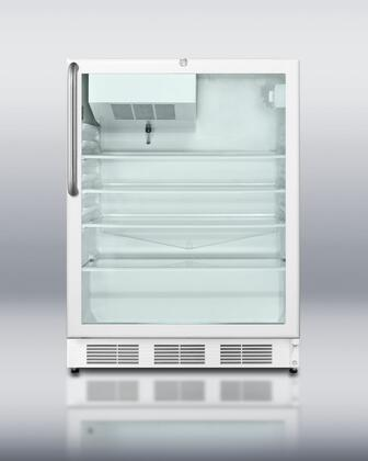 Summit SCFF55GLCSS  Counter Depth Freezer with 5 cu. ft. Capacity in Stainless Steel
