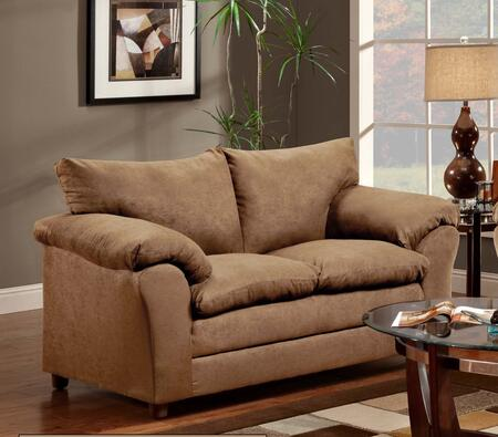 Chelsea Home Furniture 471150LVLT Gail Series Polyester Stationary with Wood Frame Loveseat