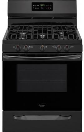 "Frigidaire FGGF3036T 30"" Gallery Series Gas Range with 5.0 cu. ft. Capacity, Fan Convection, Steam Clean in x."