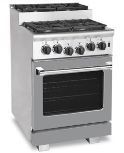 American Range ARR244SMG Titan Series Gas Freestanding Range with Sealed Burner Cooktop, 3.71 cu. ft. Primary Oven Capacity, in Gun Metal