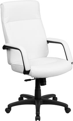 Flash Furniture BT90033HGG High Back Leather Executive Office Chair with Memory Foam Padding