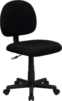"Flash Furniture BT-660-XX-GG 17"" Mid-Back Ergonomic Fabric Task Chair with Contoured Seat and Back, Depth Adjustable Back, Heavy Duty Nylon Base, and Dual Wheel Carpet Casters"