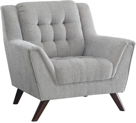 Coaster 511033 Baby Natalia Series Fabric Armchair with Wood Frame in Dove Grey