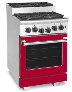 American Range ARR244SBR Titan Series Gas Freestanding Range with Sealed Burner Cooktop, 3.71 cu. ft. Primary Oven Capacity, in Red