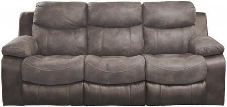 "Catnapper Henderson Collection 90"" Reclining Sofa with Drop-Down Table, Bucket Seat Design, Cup Holders, Coil Seating Comfor-Gel and Two-Tone Fabric Combination Upholstery"
