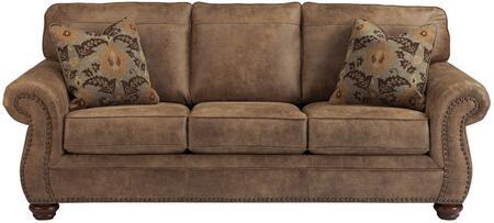 Flash Furniture FSD3199SOERTGG Larkinhurst Series Stationary Faux Leather Sofa