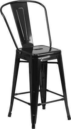 Flash Furniture CH3132024GBBKGG Residential Not Upholstered Bar Stool