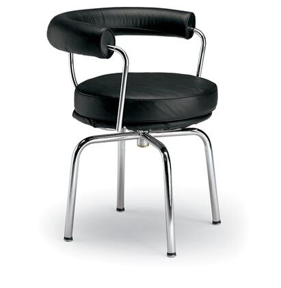 Fine Mod Imports FMI9265BLACK Armchair Leather Tubular Steel Frame Accent Chair