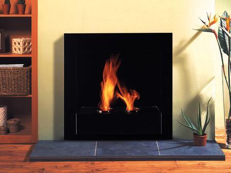 Lookboard Modern Design 171674 Wall Mountable Vent Free Bioethanol Fireplace