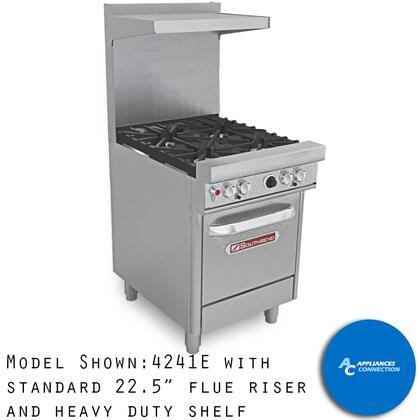 "Southbend 4244 Ultimate Range Series 24"" Gas Range with Two Star/Saute Burners in Front , Two Standard Non-Clog Burners in Back, and Standard Cast Iron Grates, Up to 132000 BTUs (NG)/96000 BTUs(LP)"