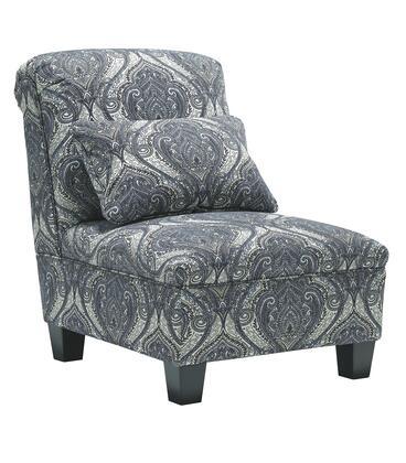 Milo Italia MI660840REGA Amiyah Series Armless Fabric Wood Frame Accent Chair
