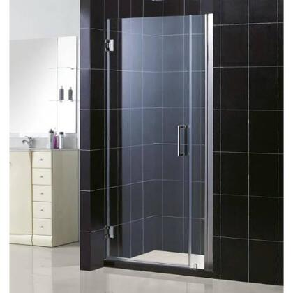 "DreamLine SHDR-20367210C Unidoor Frameless 36"" - 37"" Adjustable Shower Door With Self-Closing Solid Brass Wall Mounted Hinges (5 Degree Offset) & In"