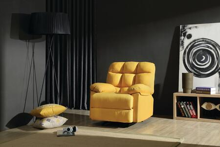 """Glory Furniture 37"""" Rocker Recliner with Removable Back, Tufted Back, Plush Padded Arms and Fabric Upholstery"""