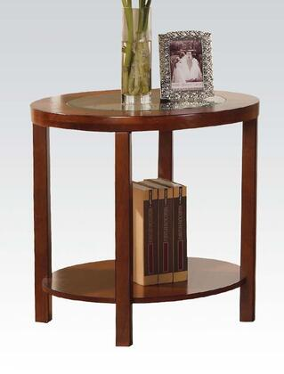 Acme Furniture 00402 Patia Series Contemporary Wood Oval None Drawers End Table