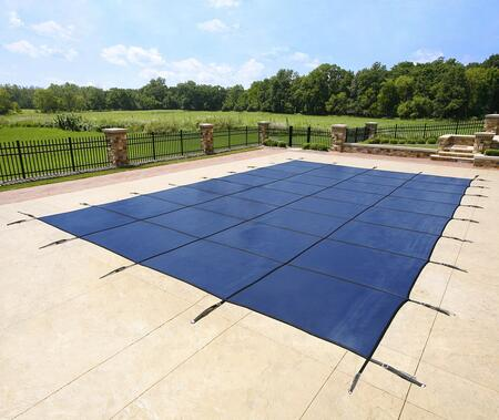 Arctic Armor WS2XXXB Blue 20-Year Ultra Light Solid Safety Cover For 00' x 00' Rectangular Pool in Blue
