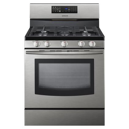 Samsung Appliance Fx510bgs 30 Inch Gas Freestanding Range With Sealed Burner Cooktop