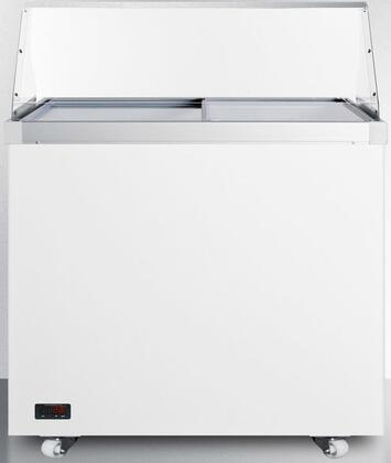 "Summit SCF942DTPDC 36"" Freestanding Commercial Glass Top Freezer"