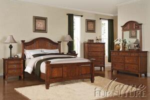 Acme Furniture 19420Q Harvest Series  Queen Size Poster Bed