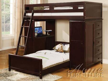Acme Furniture 10350 Nathan Series  Twin Size Loft Bed