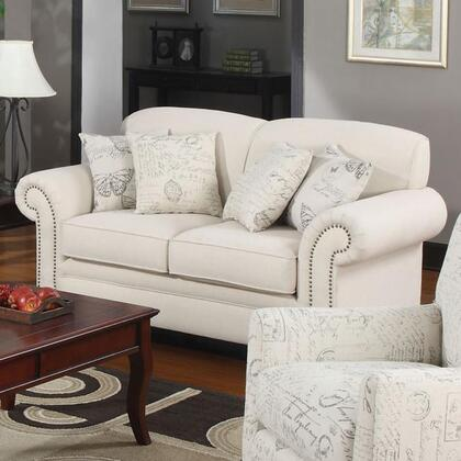 Coaster 502512 Norah Series Fabric Stationary with Wood Frame Loveseat