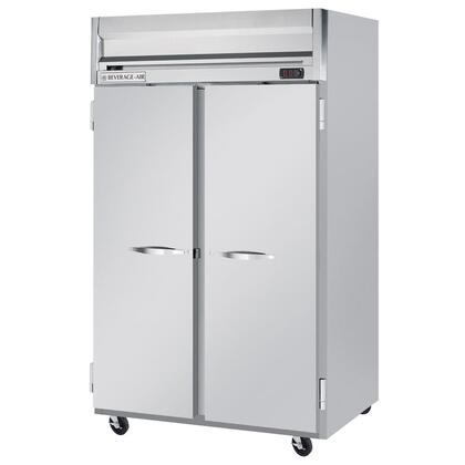 """Beverage-Air HF2-1 52"""" Horizon Series Two Section [Solid Door] Reach-In Freezer, 49 cu.ft. capacity, Stainless Steel Front, Gray Painted Sides, Aluminum Interior"""