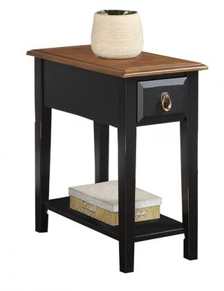 """Acme Furniture Jeana 22"""" Side Table with 1 Drawer, Bottom Shelf, Rectangular Shape, Straight Legs, Brass Hardware and Side Metal Drawer Glides in"""