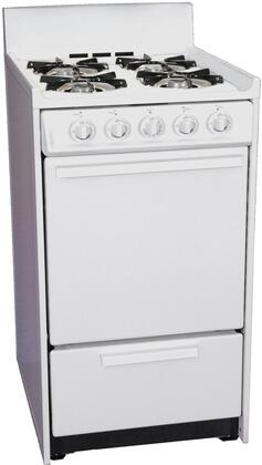 Summit WLM1107  Gas Freestanding Range with Open Burner Cooktop, 2.5 cu. ft. Primary Oven Capacity, Broiler in White