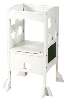 Guidecraft G9732Y Kitchen Helper Foldable Children's Step-Up Footstool with Multiple Shapes Cut-Out and 3 Adjustable Heights in