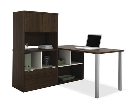 Bestar Furniture 50850 Contempo L-Shaped desk with hutch