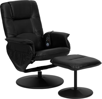 Flash Furniture BT753PMASSAGEBKGG Back, Lumbar, Thighs and Legs Heat Massage Chair