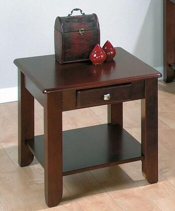 Jofran 2803 Contemporary Rectangular 1 Drawers End Table