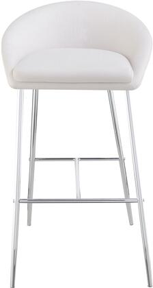 """Coaster Dining Chairs and Bar Stools Collection 35"""" Bar Stool with Low Back, Chrome Legs, Metal Construction and Fabric Upholstery in"""