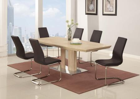Chintaly ZOEY5PC ZOEY DINING 5 Piece Set with Zoey-Sc (1 Table and 4 Chairs)