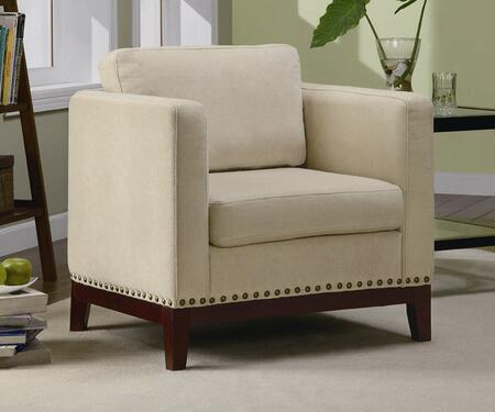 Coaster 900172 Club Fabric Wood Frame Accent Chair