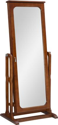 Powell 551 Cheval Jewelry Wardrobe with Full Adjustable Mirror and Brown Lining in
