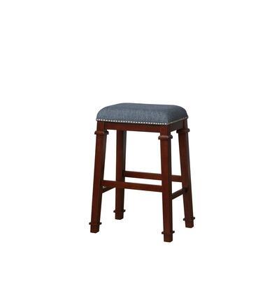 Linon Kennedy BS095BLU01U Kyley Backless Bar Stool Denim Blue