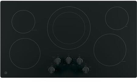 Ge Jp3036dlbb 36 Inch Black 5 Element Electric Cooktop