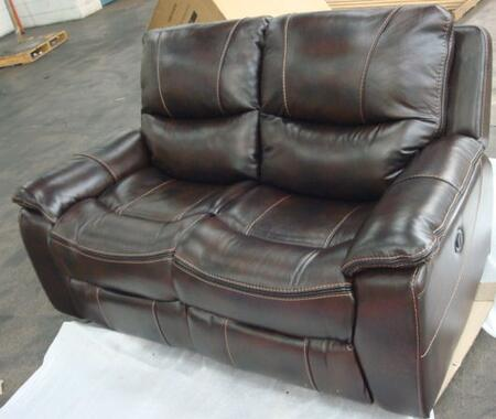 Hooker Furniture SS624-P2-0 Traditional-Style Living Room Power Motion Loveseat with Black Trim