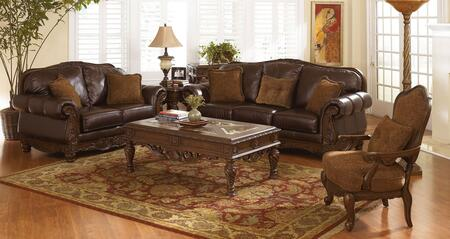 Milo Italia MI6844KIT3PC2DKBR Franklin Living Room Sets