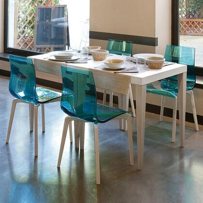 Domitalia GELSLSFFRSSAZ Gel Series Transitional Wood Frame Dining Room Chair