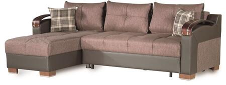 "Casamode Divan Deluxe Collection DIVAN DELUXE SECTIONAL 93"" 2-Piece Convertible Sectional Sofa"